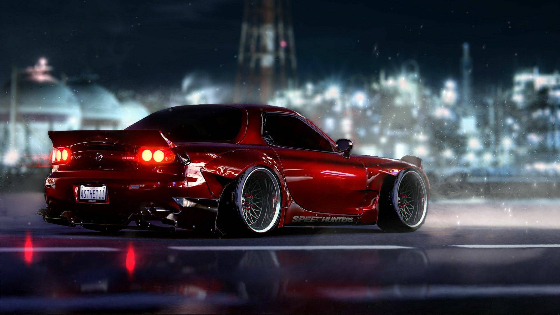 Red Mazda RX-7 - cars live wallpaper DOWNLOAD FREE
