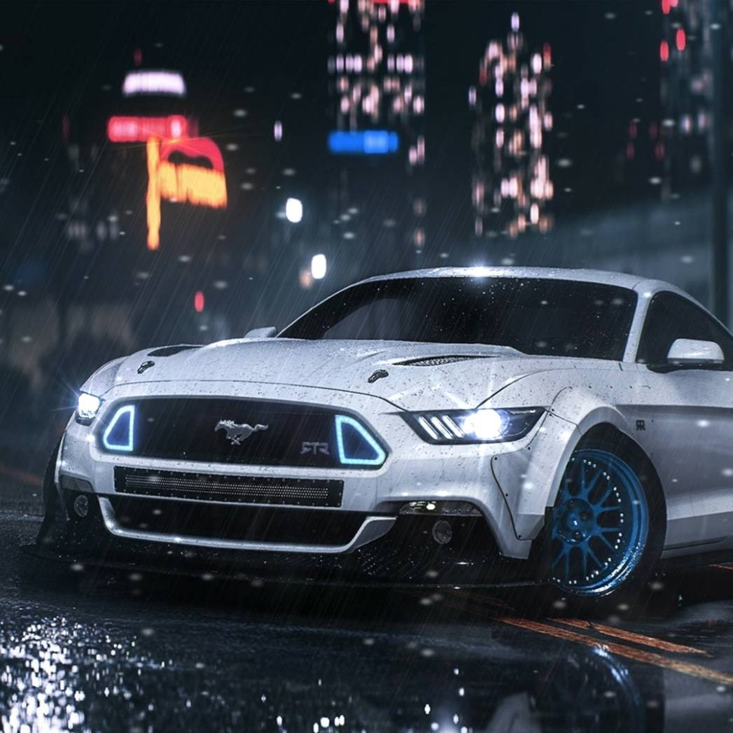 Ford Mustang GT at night - cars live wallpaper DOWNLOAD FREE