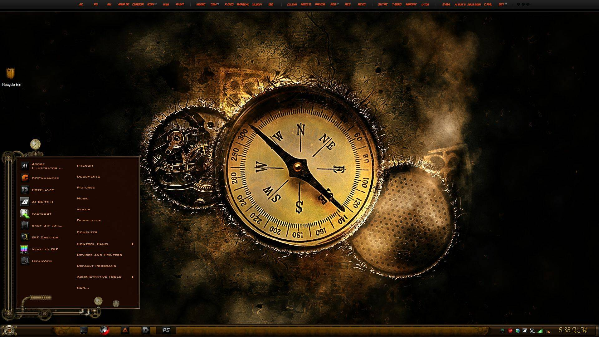 Theme Chrononaut Steampunk The Time Lords For Windows 10 1703 2009 Download Free