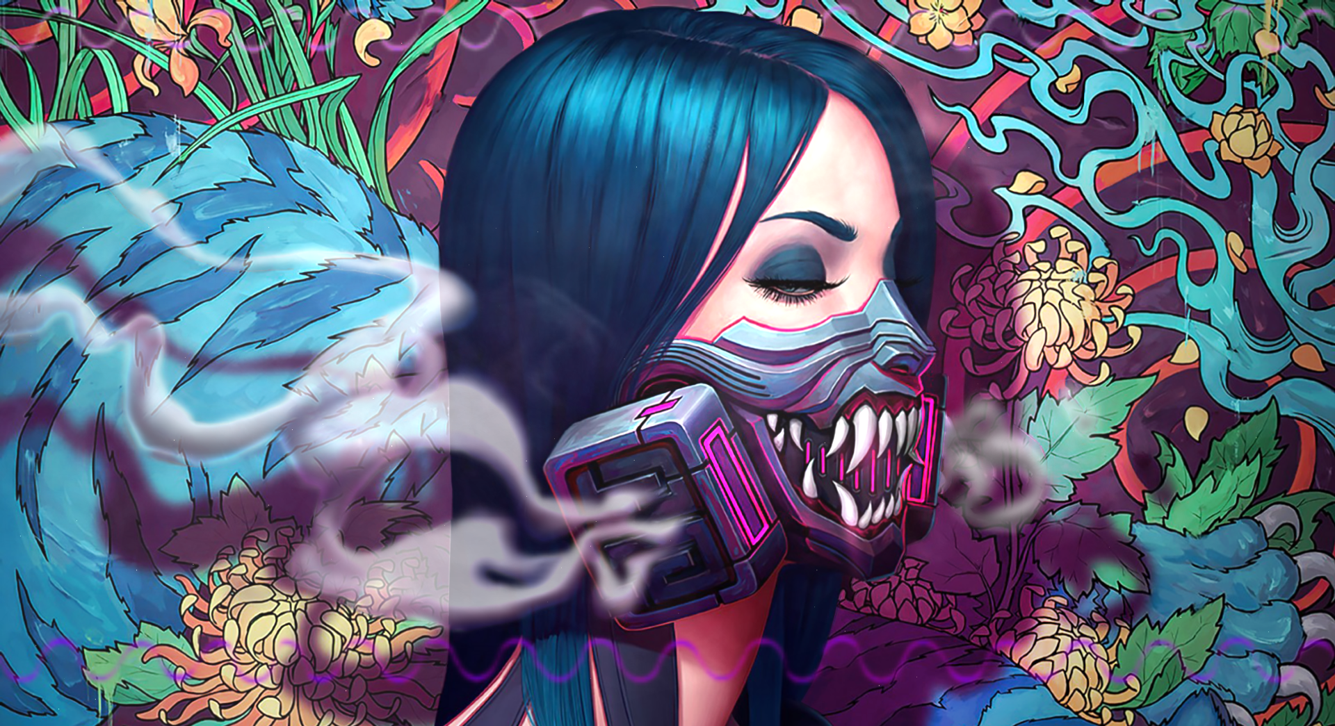 Tora Oni Mask Cyberpunk Gas Girls Live Wallpaper 29958 Download Free Find best oni mask wallpaper and ideas by device, resolution, and quality (hd, 4k) from a curated website list. tora oni mask cyberpunk gas girls